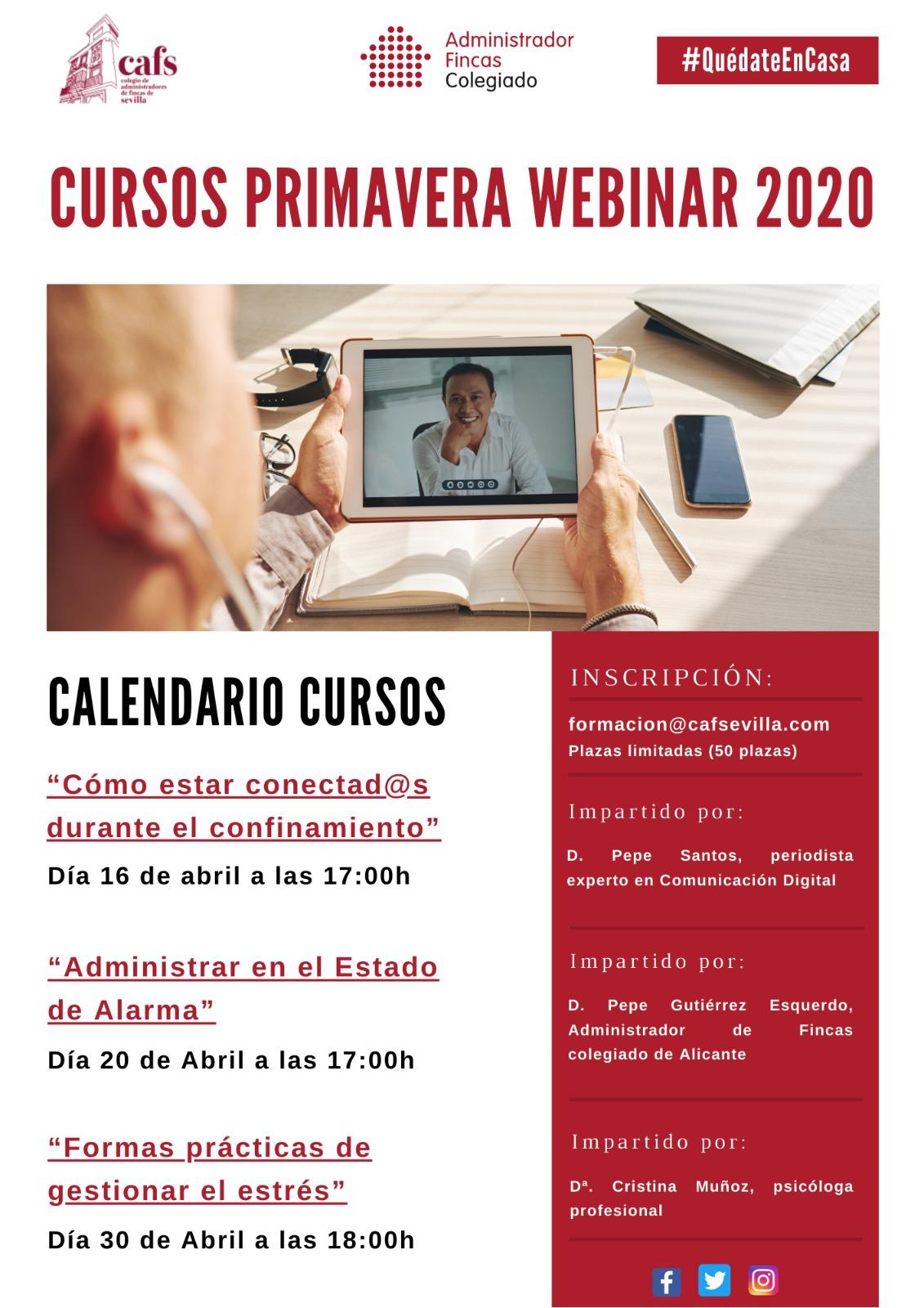 cursos primavera webinar 2020