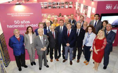 El alcalde inaugura la exposición conmemorativa del 50 Aniversario del Colegio de Administradores de Fincas de Sevilla
