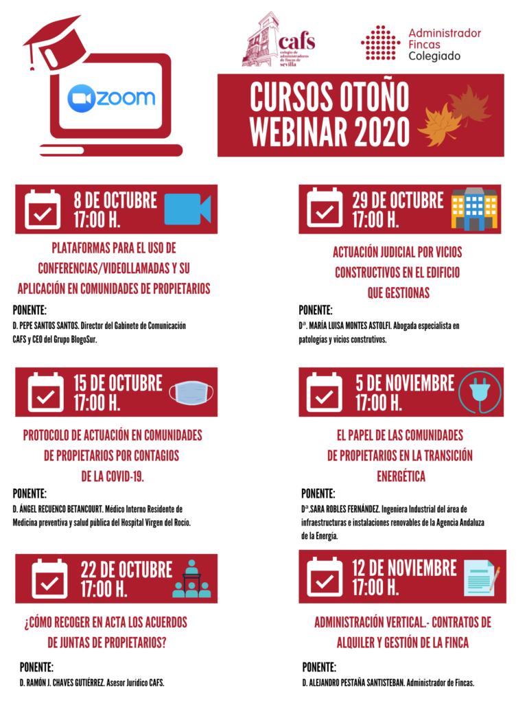 programa cursos otoño webinar 2020